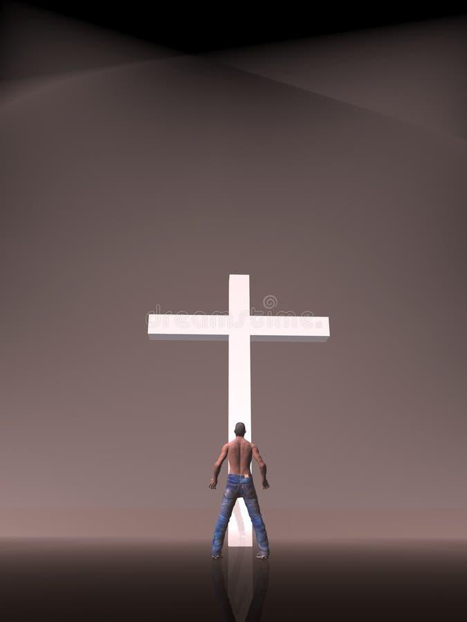 Fe, adoración, cristianismo. stock de ilustración