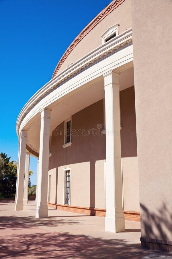 Fe van de kerstman, New Mexico - de Bouw van het Capitool van de Staat royalty-vrije stock foto