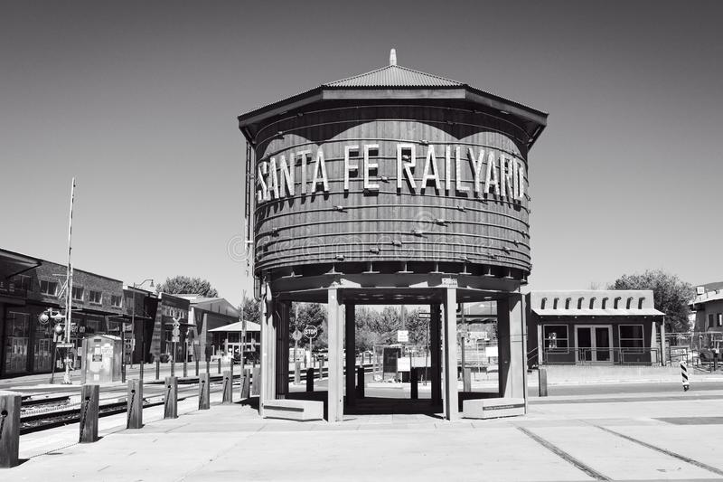 Fe van de kerstman railyard stock afbeeldingen