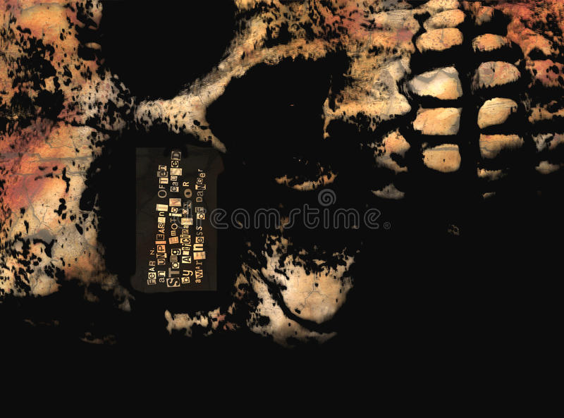 Download Fear stock photo. Image of fright, definition, font, skull - 13428784