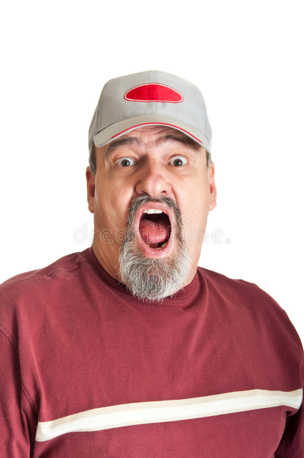 Fear In An Adult Man royalty free stock photos