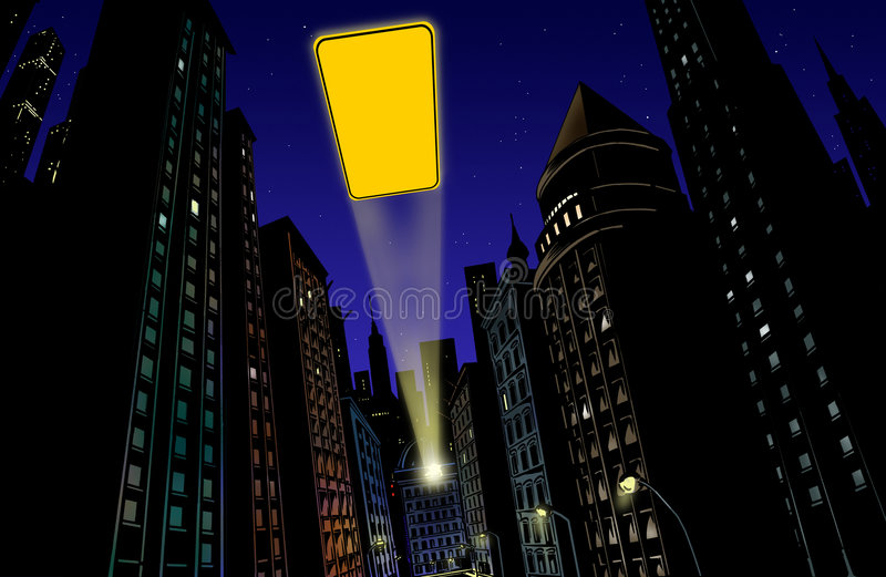 Fear on the city stock illustration