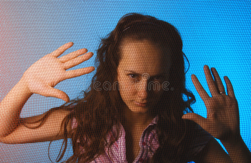 Download Fear in dark stock image. Image of female, displaced, depressed - 3748493