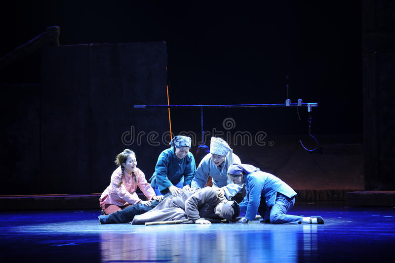 The fear of death- Jiangxi opera a steelyard. Jiangxi opera a steelyard is adapted from a true story: the last century fortys, the protagonists father runs an royalty free stock photos