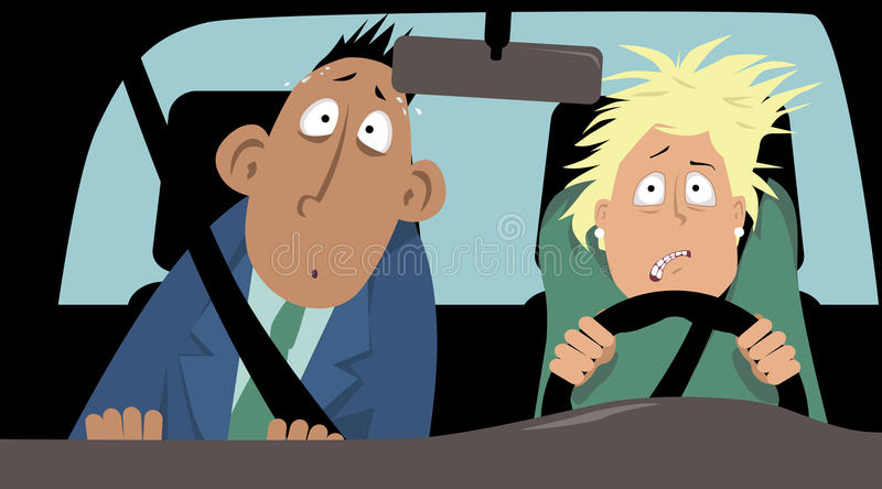 Fear of driving stock illustration