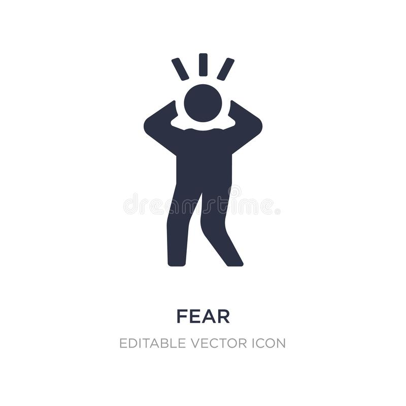 fear icon on white background. Simple element illustration from Halloween concept royalty free illustration