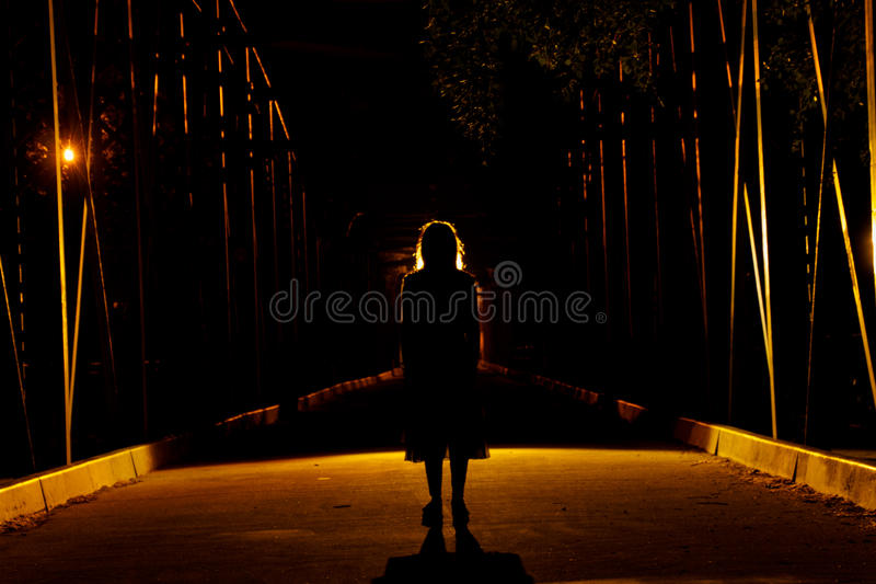 Fear and suspense royalty free stock photo