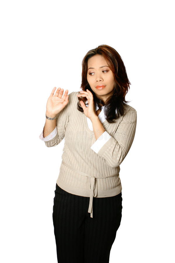 Fearful Asian female royalty free stock photos