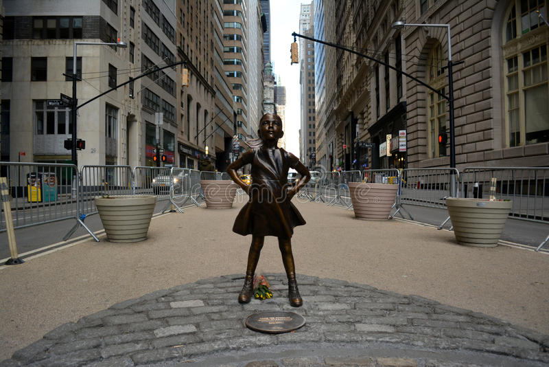 Fearless Girl royalty free stock photo