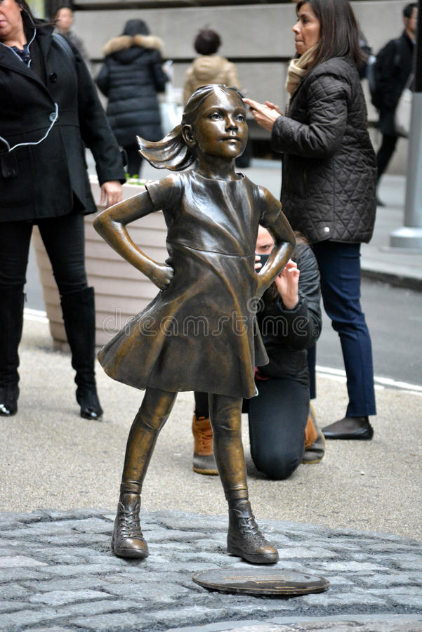 Fearless Girl royalty free stock image