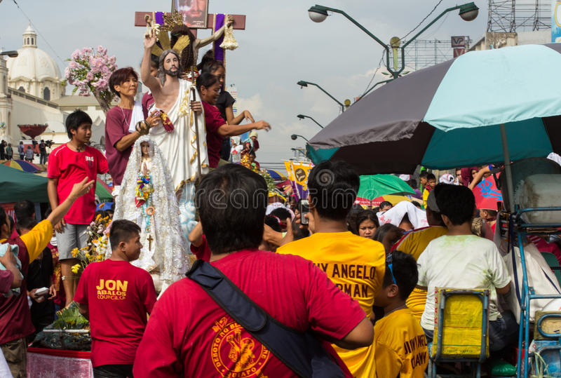 Feast Of Black Nazarene In Manila, Philippines Editorial Photo