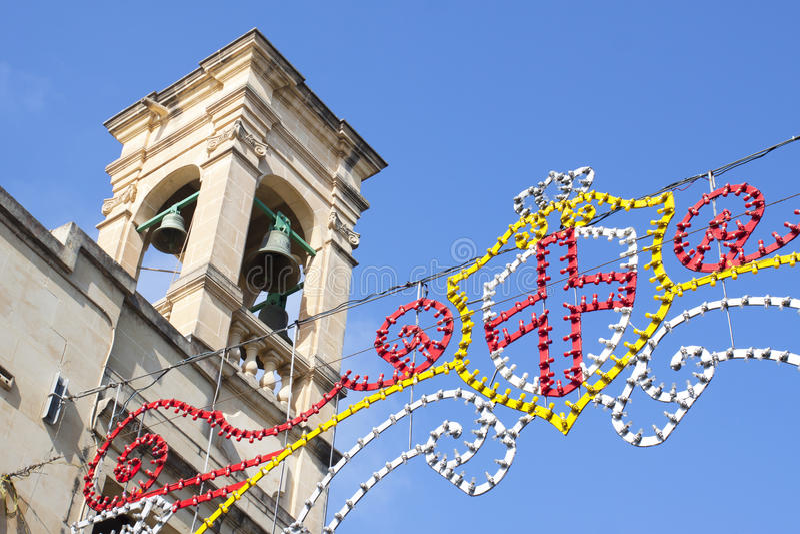 Feast in Gozo, Malta, Europe stock photography