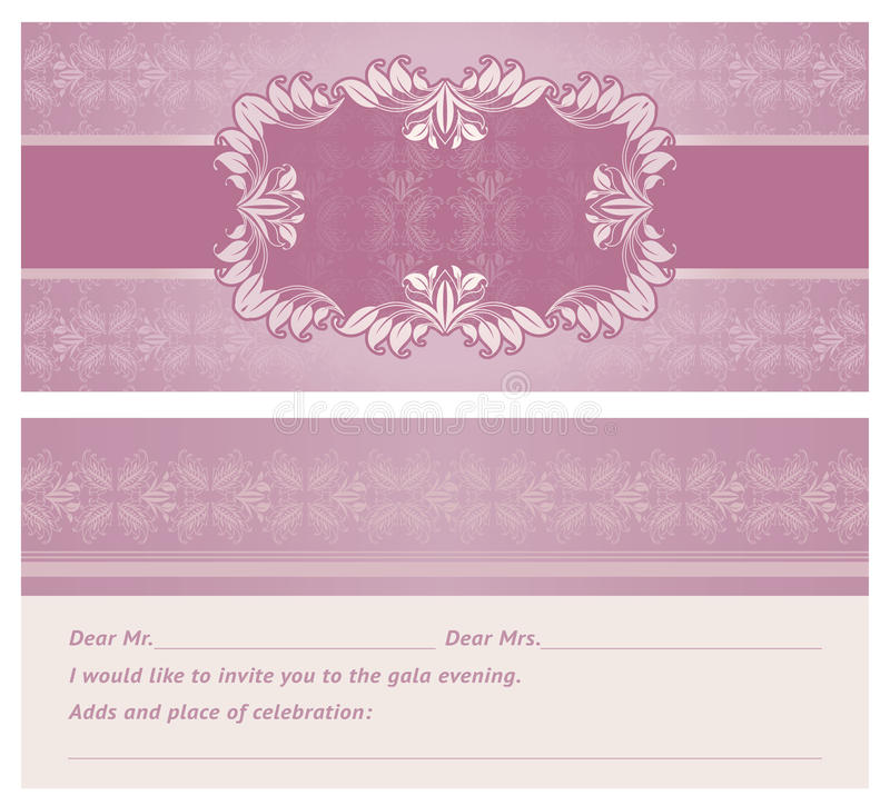Feast-invitation, Background, Template Royalty Free Stock Image