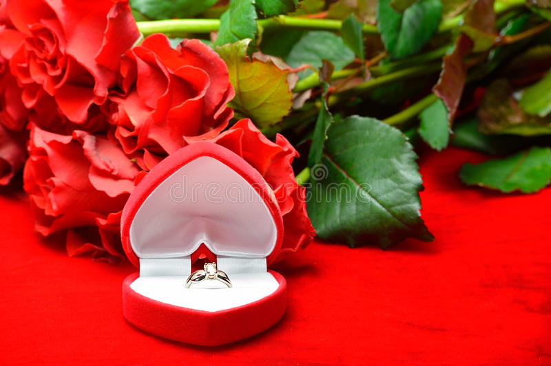 Download Feast of Love stock image. Image of gift, ring, bouquet - 28505063