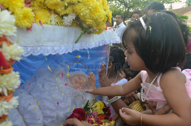 The feast of Nativity of Our Lady, 'Monthi Fest' being celebrated In Mangalore. Mangalore: September .8,2014- The Feast of Blessing of New corns-Nativity of Our stock images