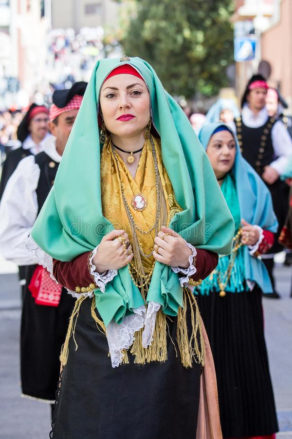 CAGLIARI, ITALY - MAY 1, 2019: 363  Religious Procession of Sant Efisio - Sardinia. The Feast of Sant `Efisio is the most important religious procession in stock images