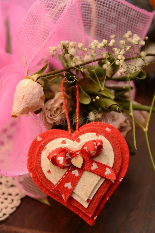Feast st. Valentine`s day lovers festivity heart flower passion love gift. For lover person royalty free stock image