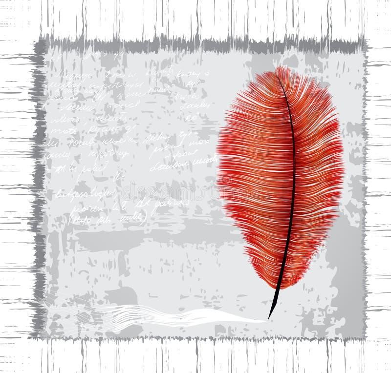 Dirty Grunge Feather Stock Illustration Illustration Of