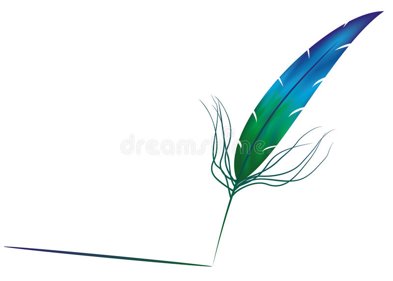 Download Feather stock vector. Image of illustration, painted - 24435939