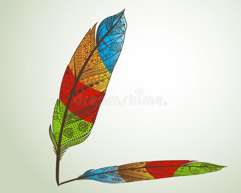 Download Feather stock vector. Image of illustration, decorative - 29580040