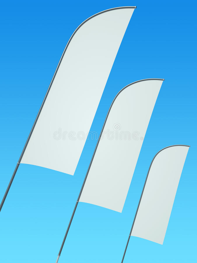 Feather Banners Stock Photo