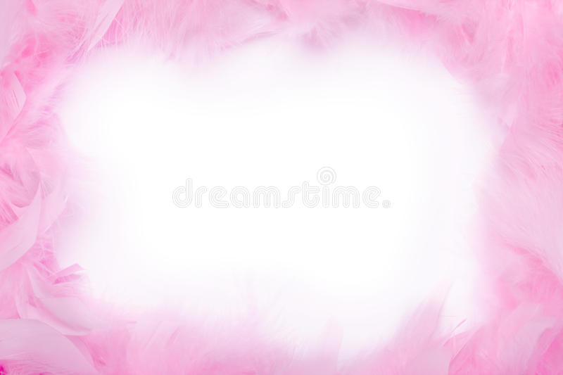 Feather Boa Frame Royalty Free Stock Photography