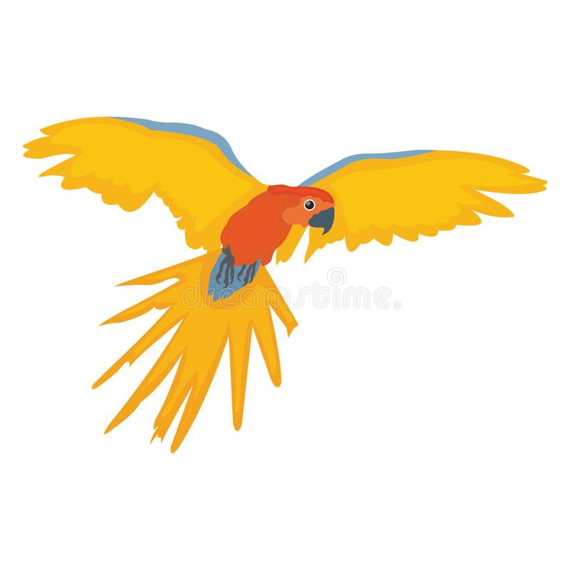 Feather creature, macaw Vector Icon stock illustration