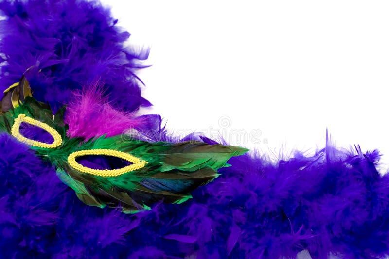 Feather Mask stock image