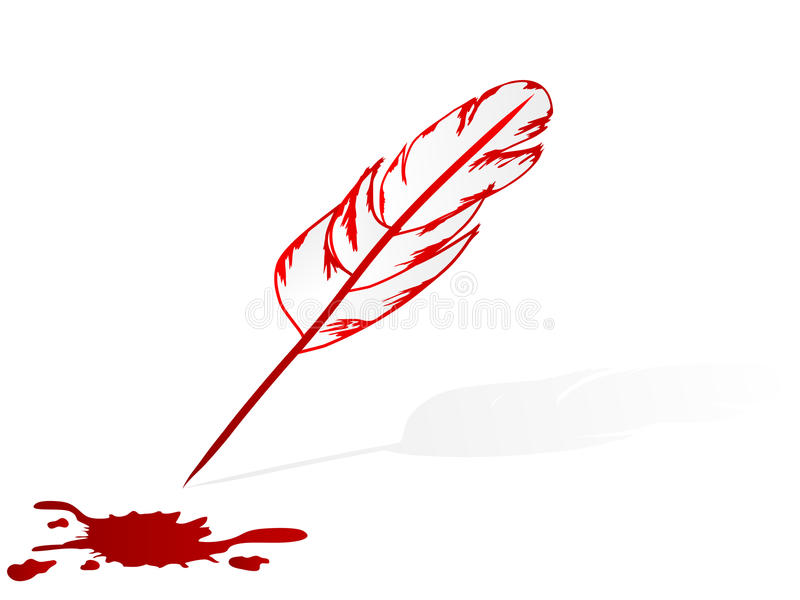 Download Feather Pen And Blood Stain Stock Photos - Image: 15593923