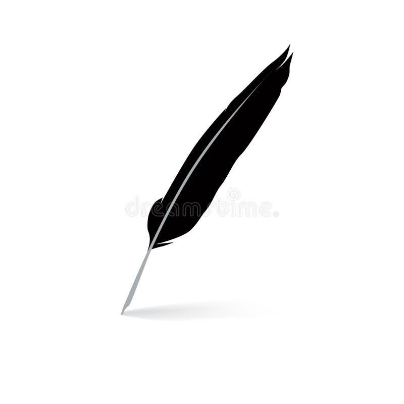 Feather Pen Icon. Vector Illustrarion Stock Vector - Image ...