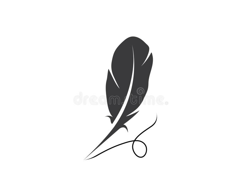 Feather pen Logo template royalty free illustration