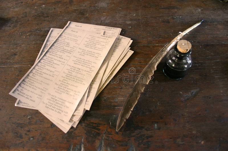 Download Feather quill and ink stock photo. Image of manuscript - 168178