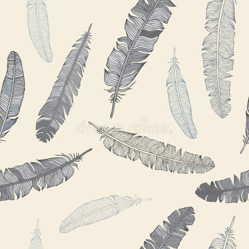 Download Feather Seamless Background. Stock Illustration - Illustration of creative, drawing: 25975834