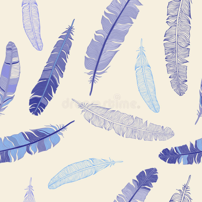 Download Feather Seamless Background. Stock Illustration - Illustration of beauty, light: 26501829