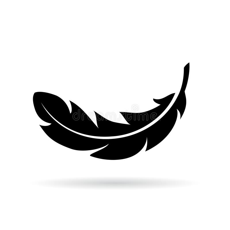Feather vector icon stock illustration