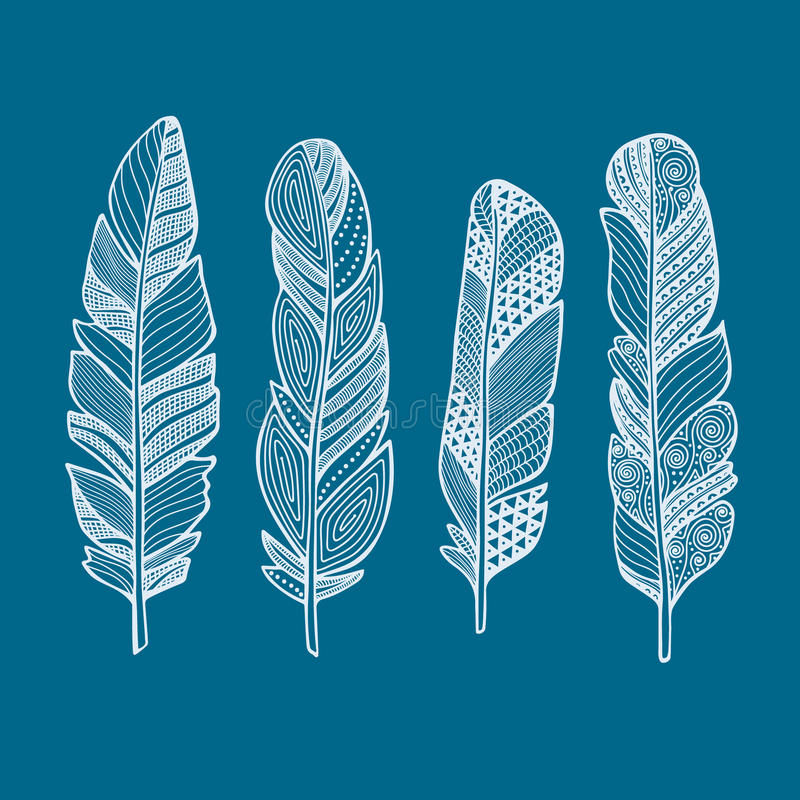 Feather vector set royalty free stock image