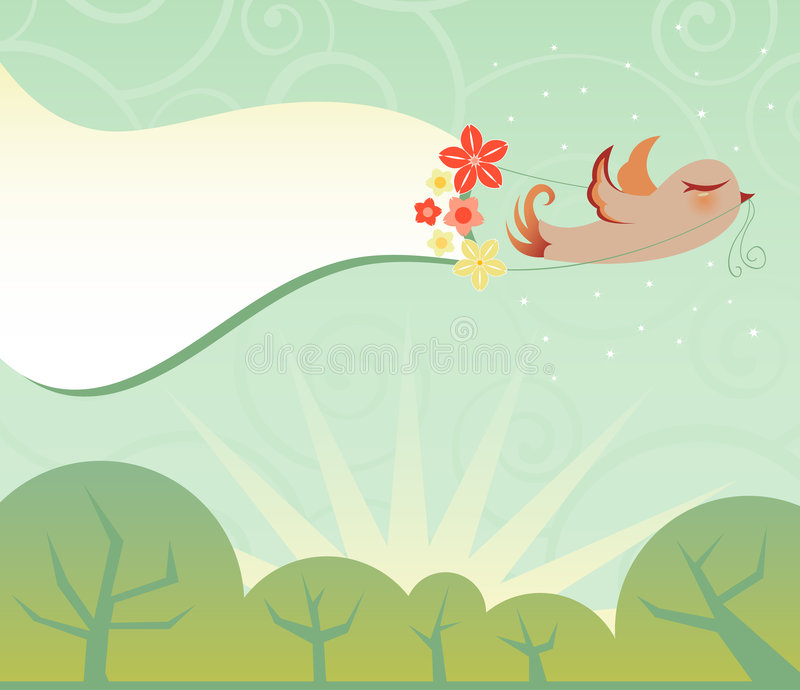 Download Feathered Messenger stock vector. Illustration of pink - 1713643