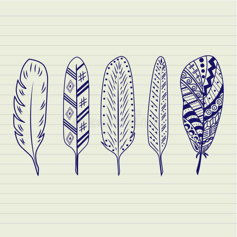 Feathers Vector Set royalty free stock photos