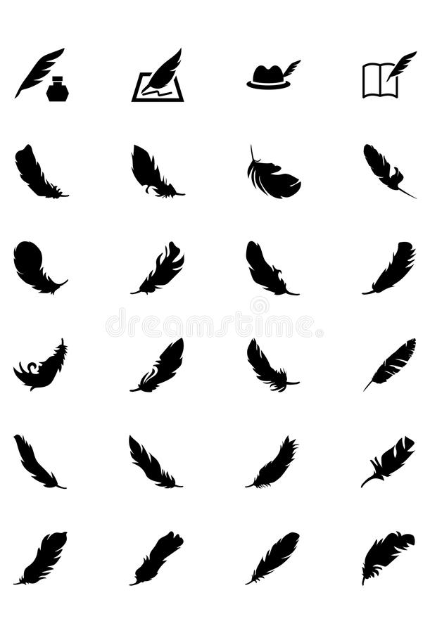 Feathers Vector Solid Icons 5 vector illustration