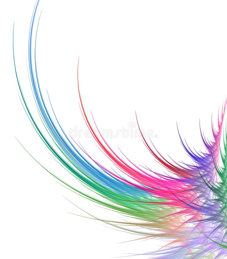 Download Feathery Curving Abstract stock illustration. Illustration of feathery - 4698021