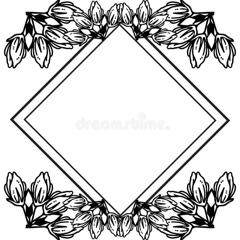 Feature and wallpaper for greeting card, black flower. Vector royalty free illustration