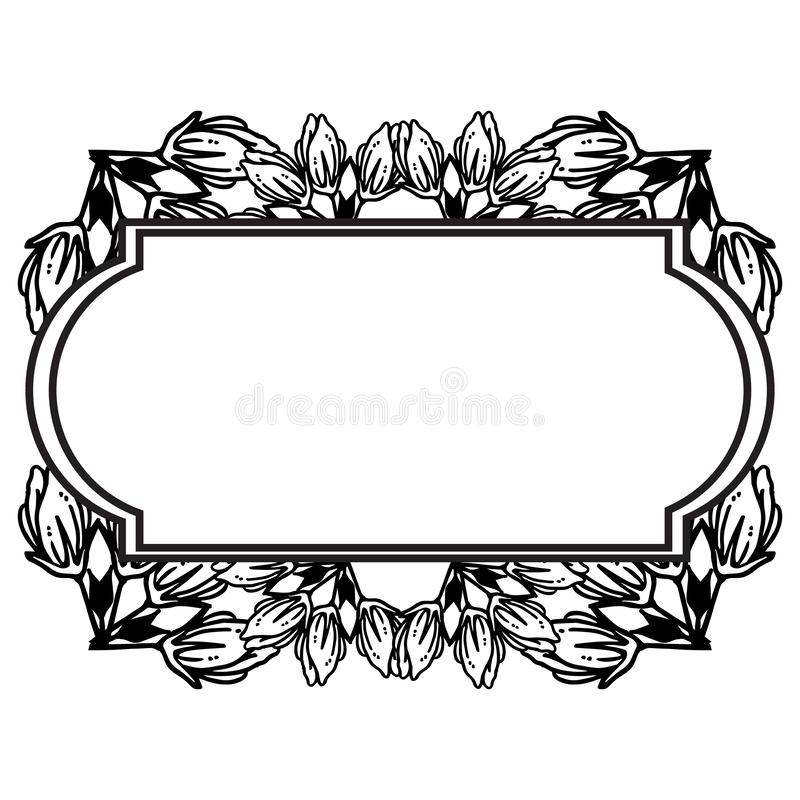 Feature and wallpaper for greeting card, black flower. Vector. Illustration vector illustration