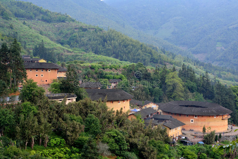 Download Featured Chinese Residence, Earth Castle In Valley Stock Image - Image: 30580431