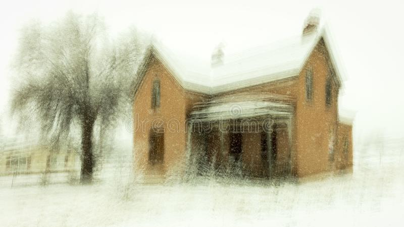 FEB 14, 2019 - COLORADO, USA - Haunted Deserted House in Old West - Colorado stock image