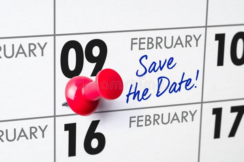 9 febbraio immagini stock