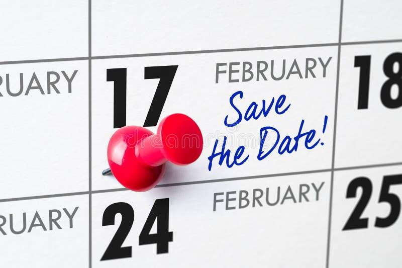 17 febbraio fotografia stock libera da diritti