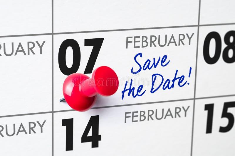 7 febbraio fotografia stock libera da diritti