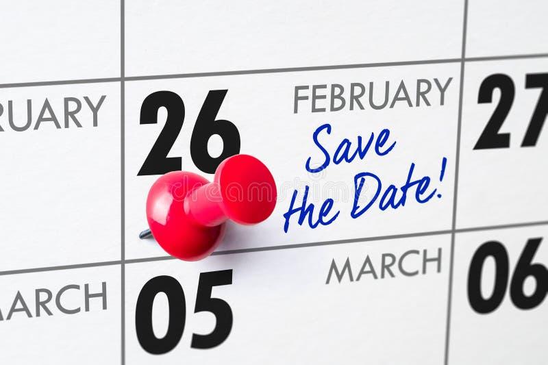 26 febbraio immagini stock libere da diritti