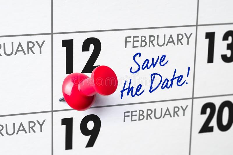 12 febbraio immagine stock
