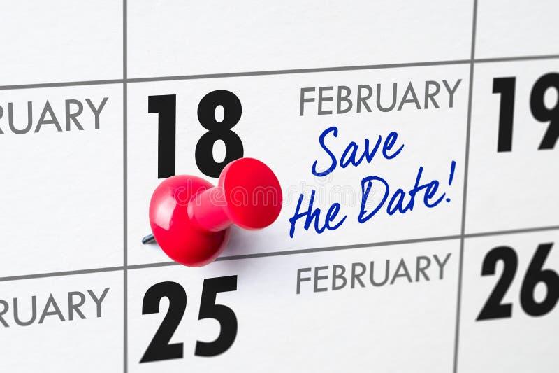 18 febbraio fotografia stock libera da diritti